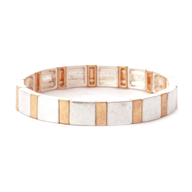 Multi Metal Stretch Bracelet
