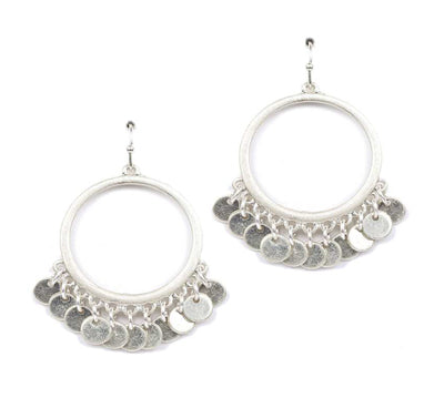 Metal Jangly Hoop Earrings