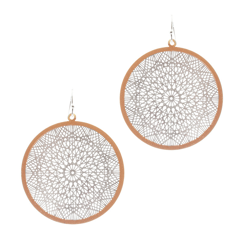Delicate Lace Effect Filigree Earrings