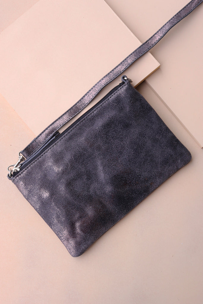 Small Crossbody Bag - Pewter