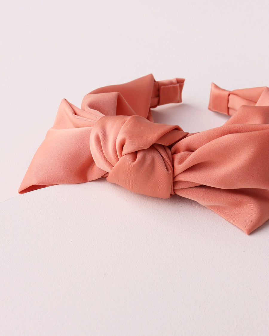 Knot Bow Headband - Dark Peach