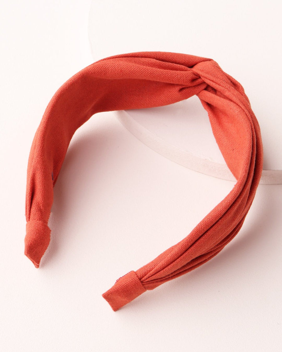 Twist Front Headband - Terracotta