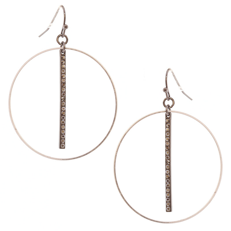 Delicate Crystal Hoop Earrings