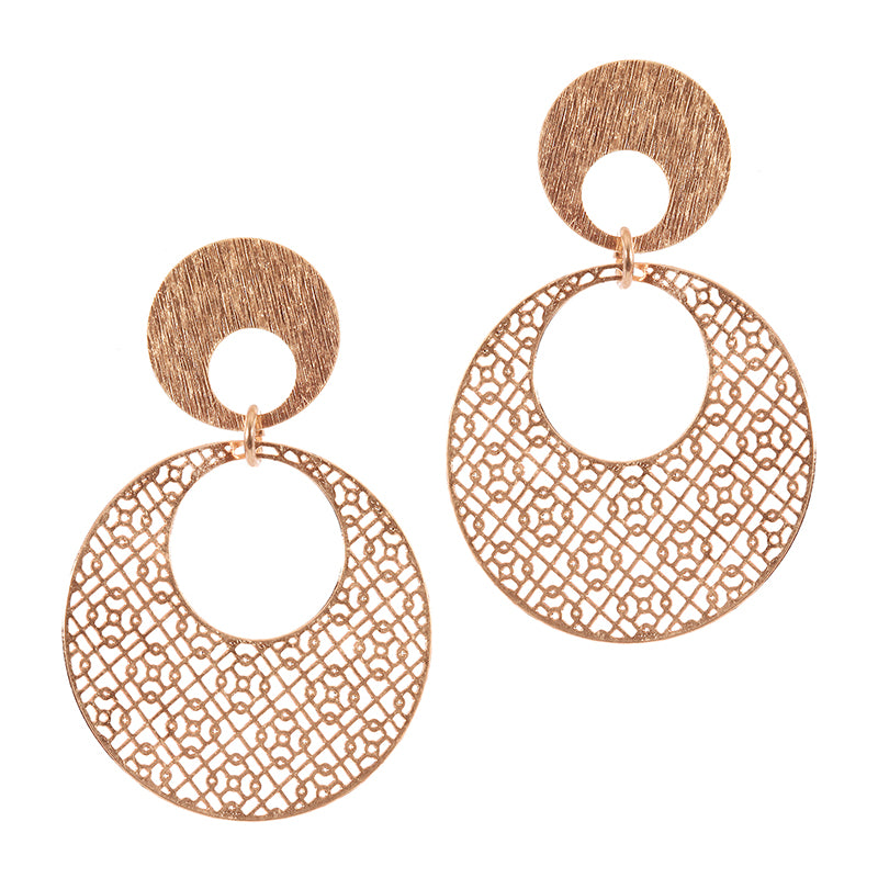 Delicate Filigree Round Earrings