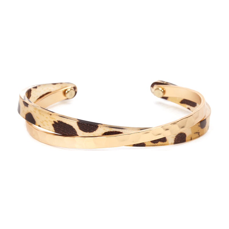 Battered Gold Tortoiseshell Bracelet
