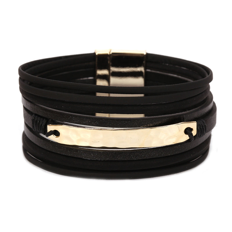 Metal Bar Layered Magnetic Bracelet