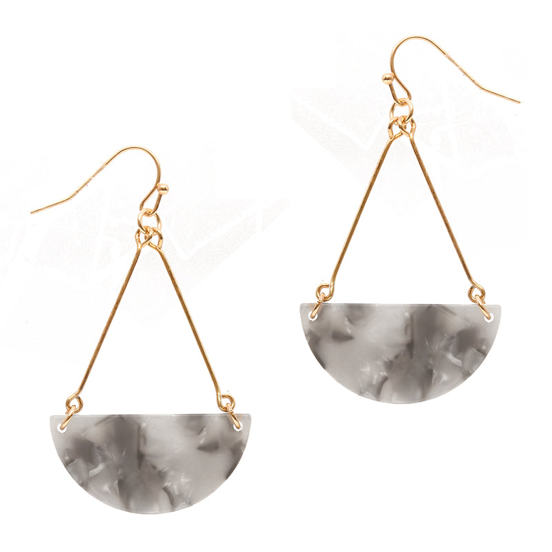 Triangular Teardrop Earrings