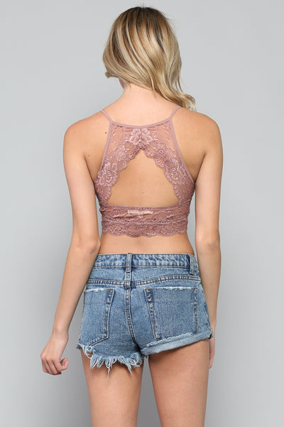 High Neck Lace Bralette