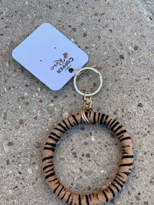 Hyde Key Ring- Brown Zebra
