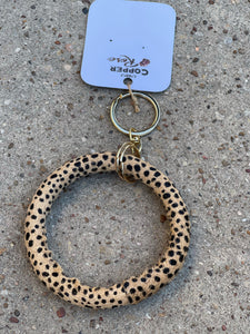 Hyde Key Ring- Brown Cheetah