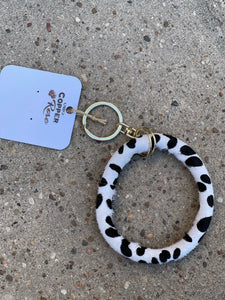 Hyde Key Ring- White Cow