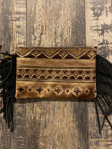 Aztec Clutch- Brown