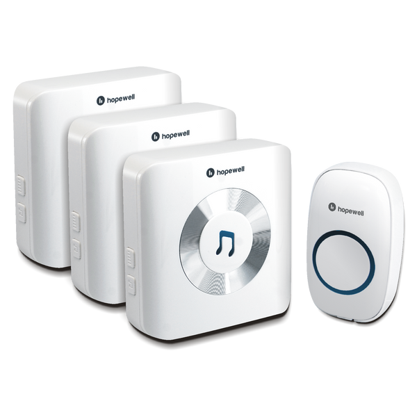 300m ULTRA Plug-In Wireless Doorbell &nbsp [ Triplet Pack ]
