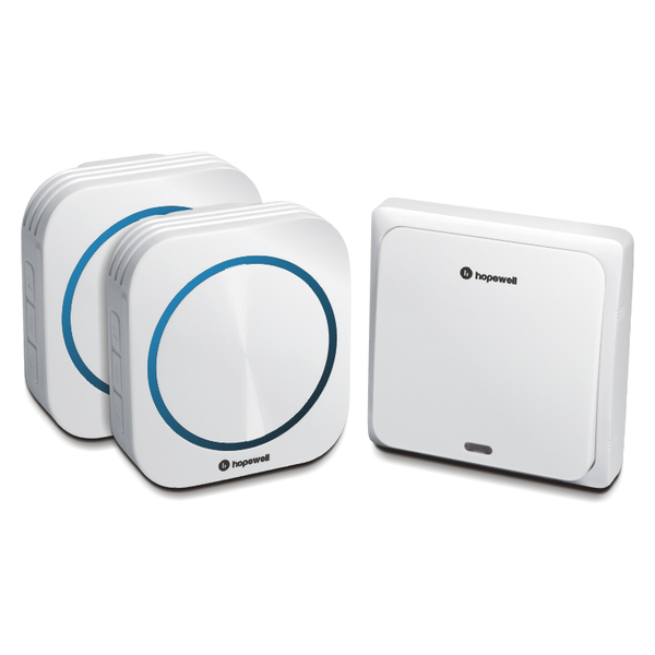 200m EXTRA Plug-In Battery-Free Wireless Doorbell ( Twin Pack )