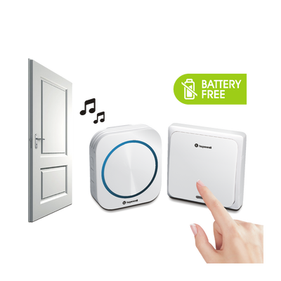 200m EXTRA Plug-In Battery-Free Wireless Doorbell &nbsp [ Twin Pack ]