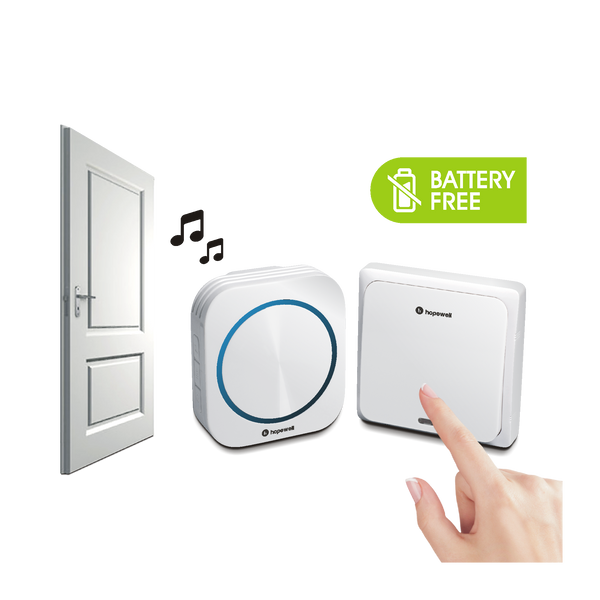 200m EXTRA Plug-In Battery-Free Wireless Doorbell   [ Twin Pack ]