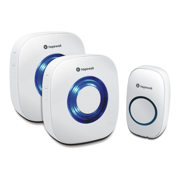 200m EXTRA Battery Operated Wireless Doorbell &nbsp [ Twin Pack ]