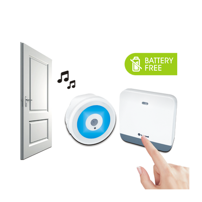 200m Plug-In Battery-Free Wireless Doorbell w/ Sensor Nightlight