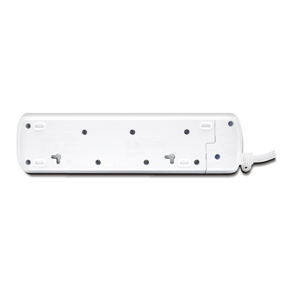 4-Way / 13A / 3m Illuminated Individual Switch Power Strip