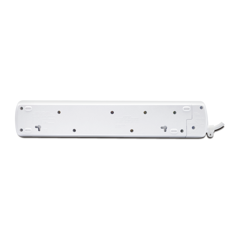 6-Way / 13A / 3m Illuminated Individual Switch Power Strip
