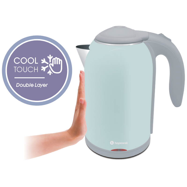 1.7L Blue Cool Touch Stainless Steel