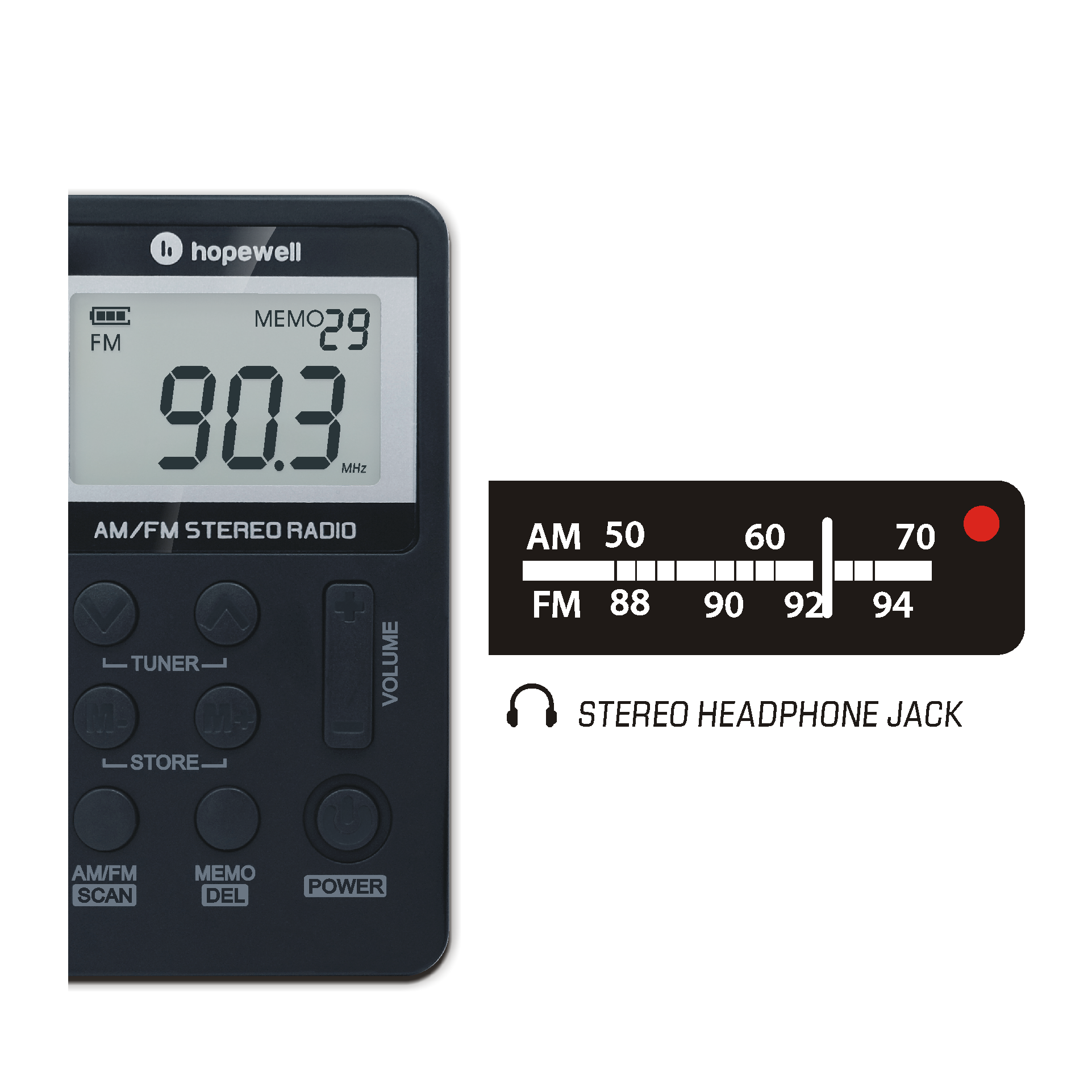 Pocket AM/FM Digital Radio