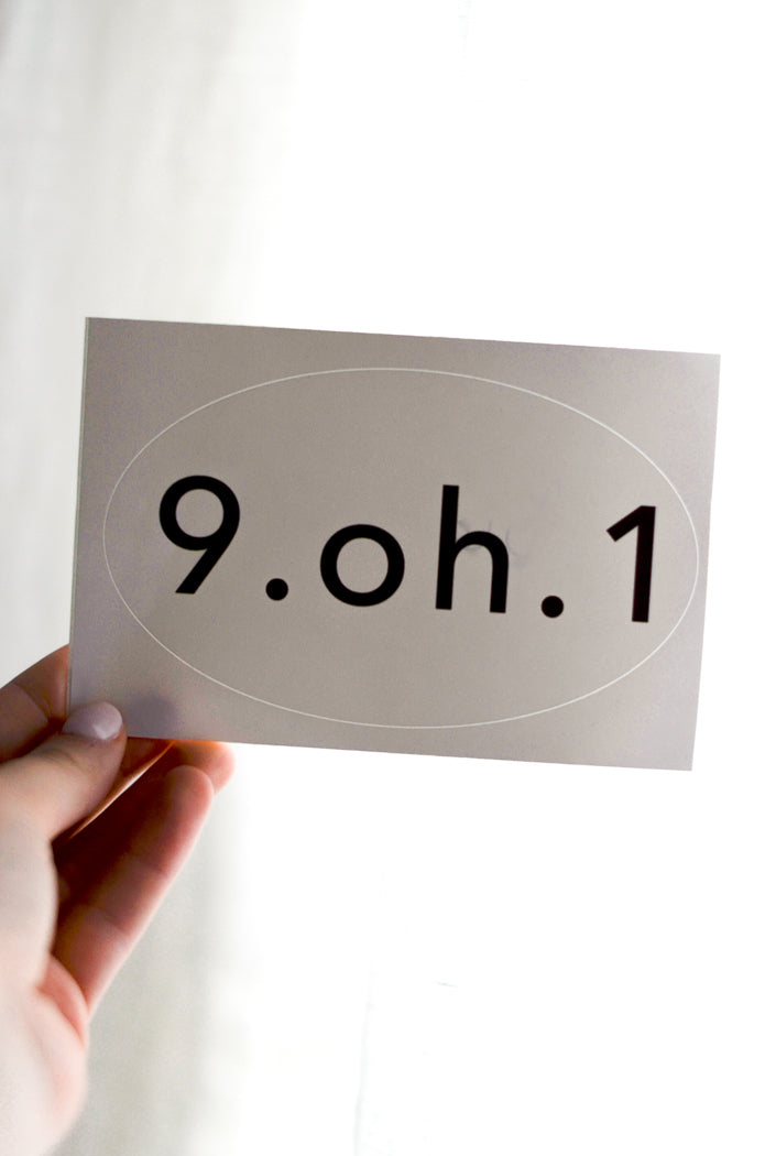 9.oh.1 Sticker