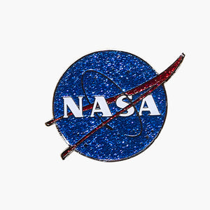 NASA Glitter Metal Magnet
