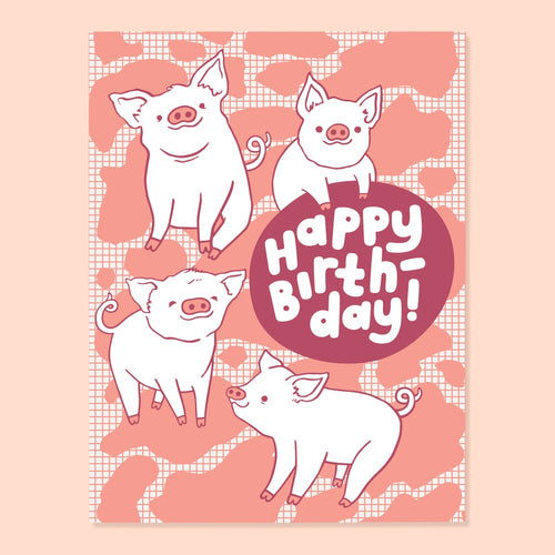 Piggy Bday Card