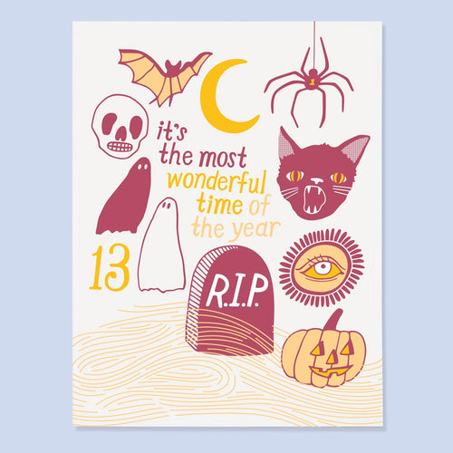 Halloween Time Card