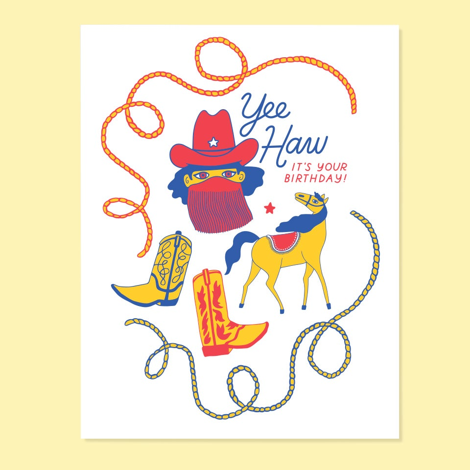 Yeehaw Bday Card