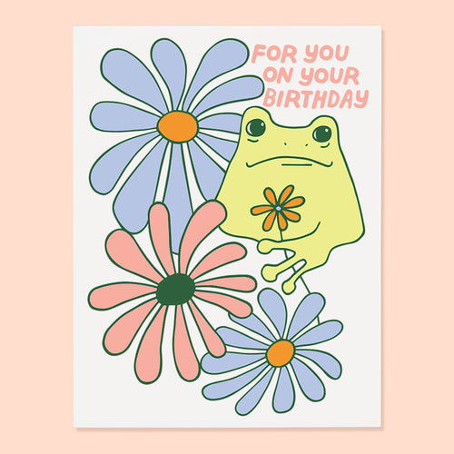 Birthday Frog Card
