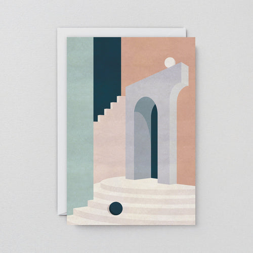 Pastel Doorway & Stairs Card