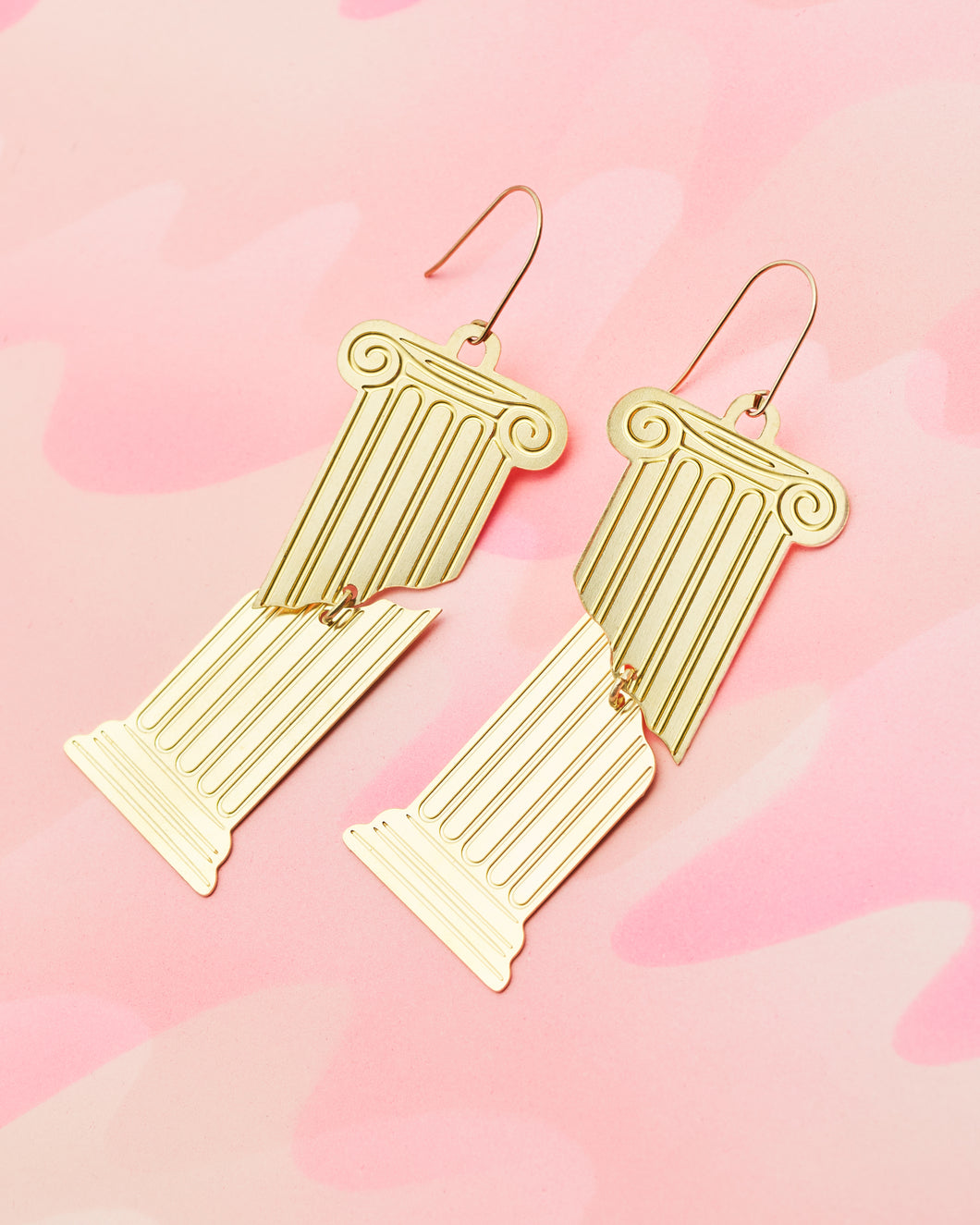 Brass Fragments Earrings