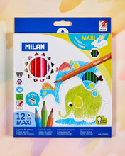 Milan Kids' Maxi Grip Colored Pencil Set of 12
