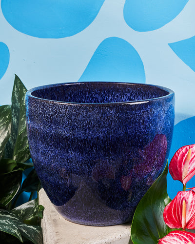10 in Bell Pot - Blue