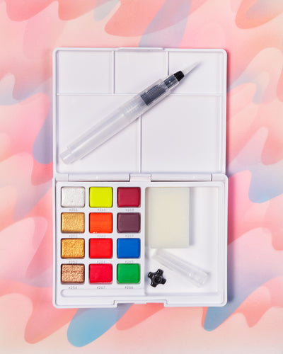 Sakura Koi Fluorescent/Metallic Watercolor Set