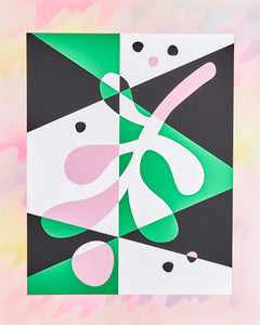 Abstract Mistletoe Print