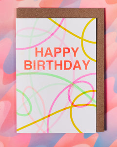 Happy Birthday Streamers Card