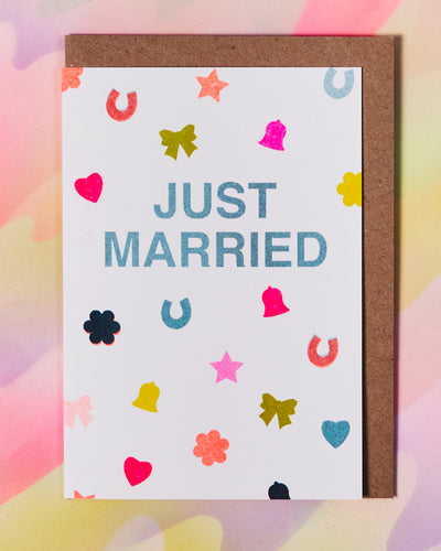 Just Married Confetti Card