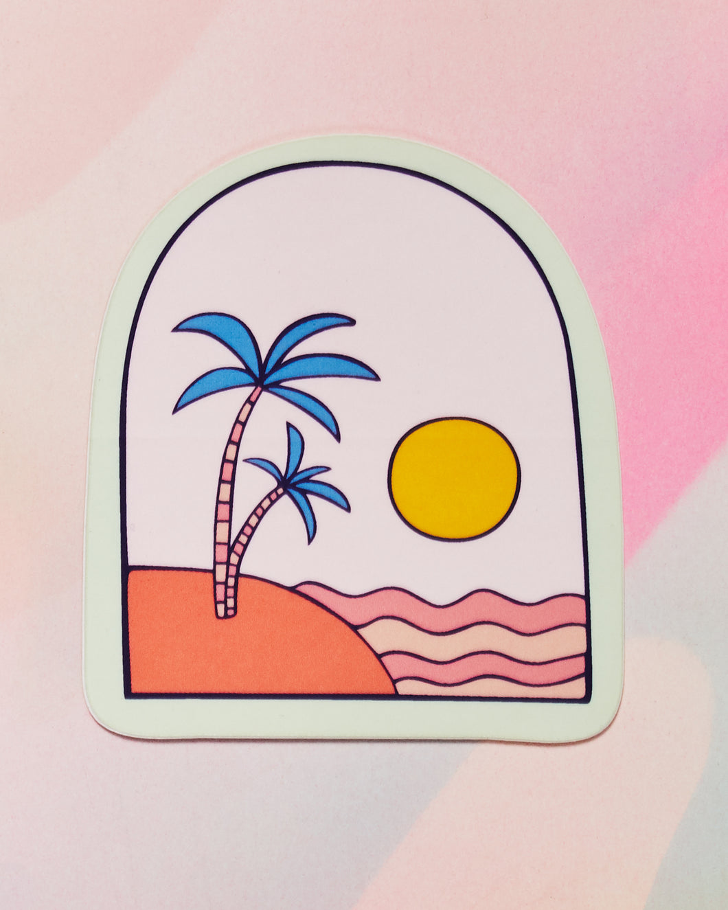 Desert Island Single Sticker