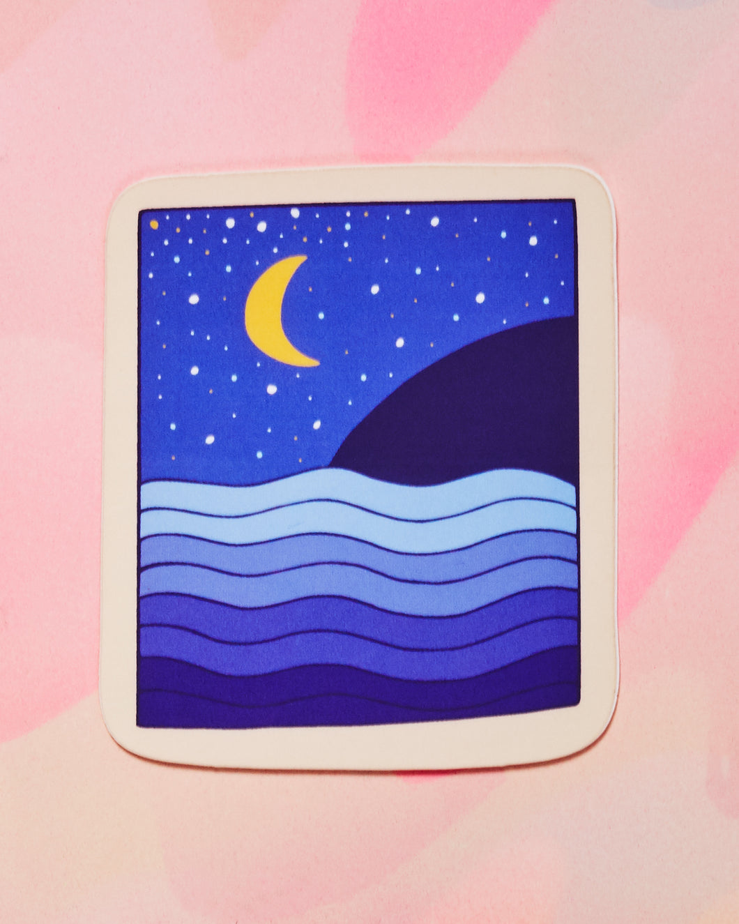 Night Moon Single Sticker