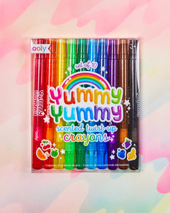 Ooly Yummy Yummy Scented Twist-Up Crayon Set of 10