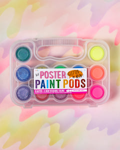 Ooly Lil Poster Paint Pods Set of 12 - Neon & Glitter