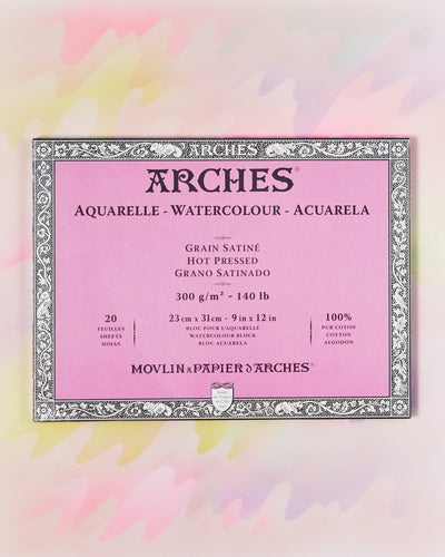 Arches Hot Press Watercolor Block - 9x12