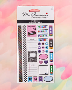 90s Throwback Planner Accent Stickers