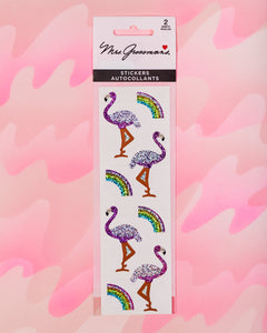 Flamingos and Rainbows Stickers