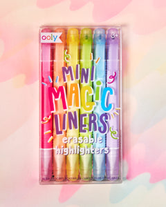 Ooly Mini Magic Liners Erasable Highlighter Set of 6