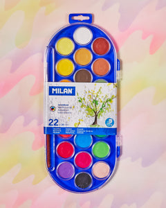 Milan Watercolor Set of 22