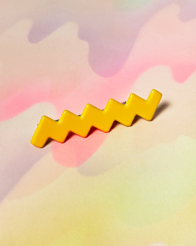 Alligator Barrette - Lemon